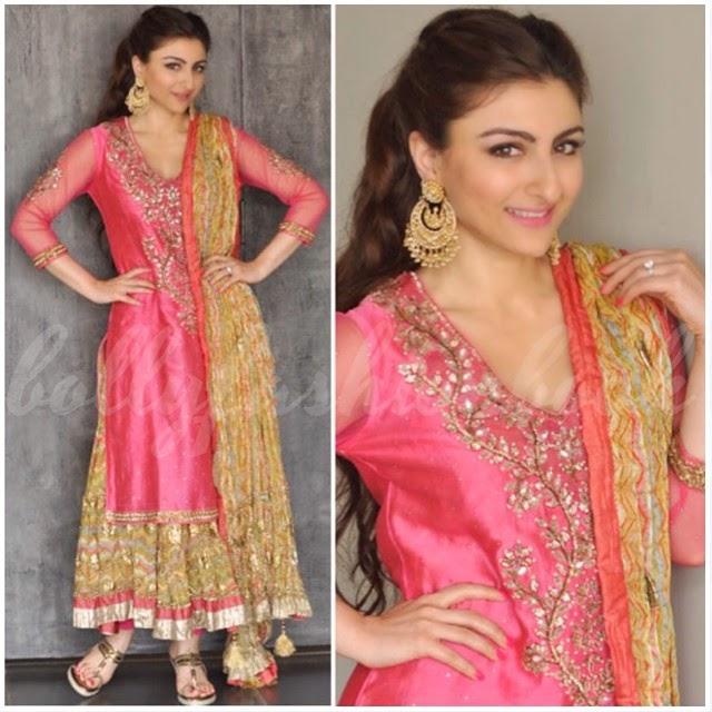 soha ali khan , in ritu kumar , outfit for her me hen di , ceremony, Soha Ali Khan Mehendi Ceremony Photo Gallery
