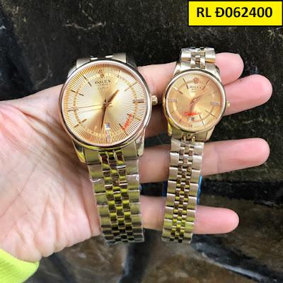 Đồng hồ đeo tay cặp đôi Rolex RL Đ062400