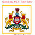 Karnataka SSLC Time Table 2018 | Karnataka Board 10th Time Table March 2018