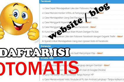 Cara Membuat Halaman Sitemap / Daftar Isi Otomatis di Blog