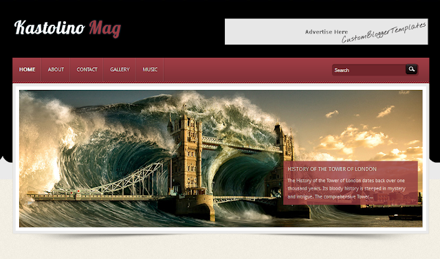 Classic Magazine Blogger Template