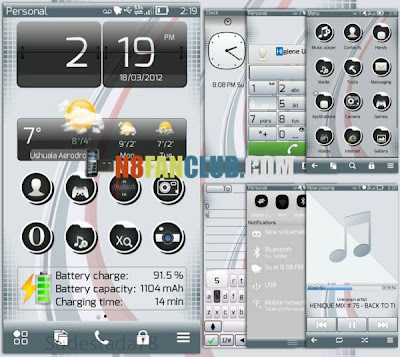 One Belle Theme - Nokia N8 - S^3 - Anna - Belle - Free Theme Download