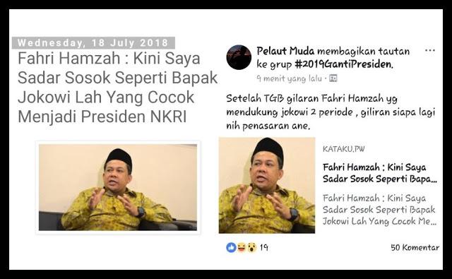 """Difitnah Dukung Jokowi, Fahri: """"Kok Pengen Sekali Saya Dukung Jokowi?"""""""