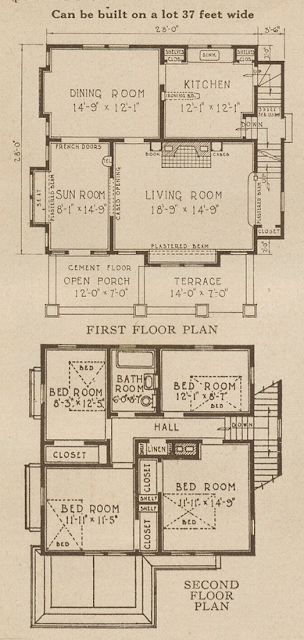 sears alhambra floor plan 1928 catalog