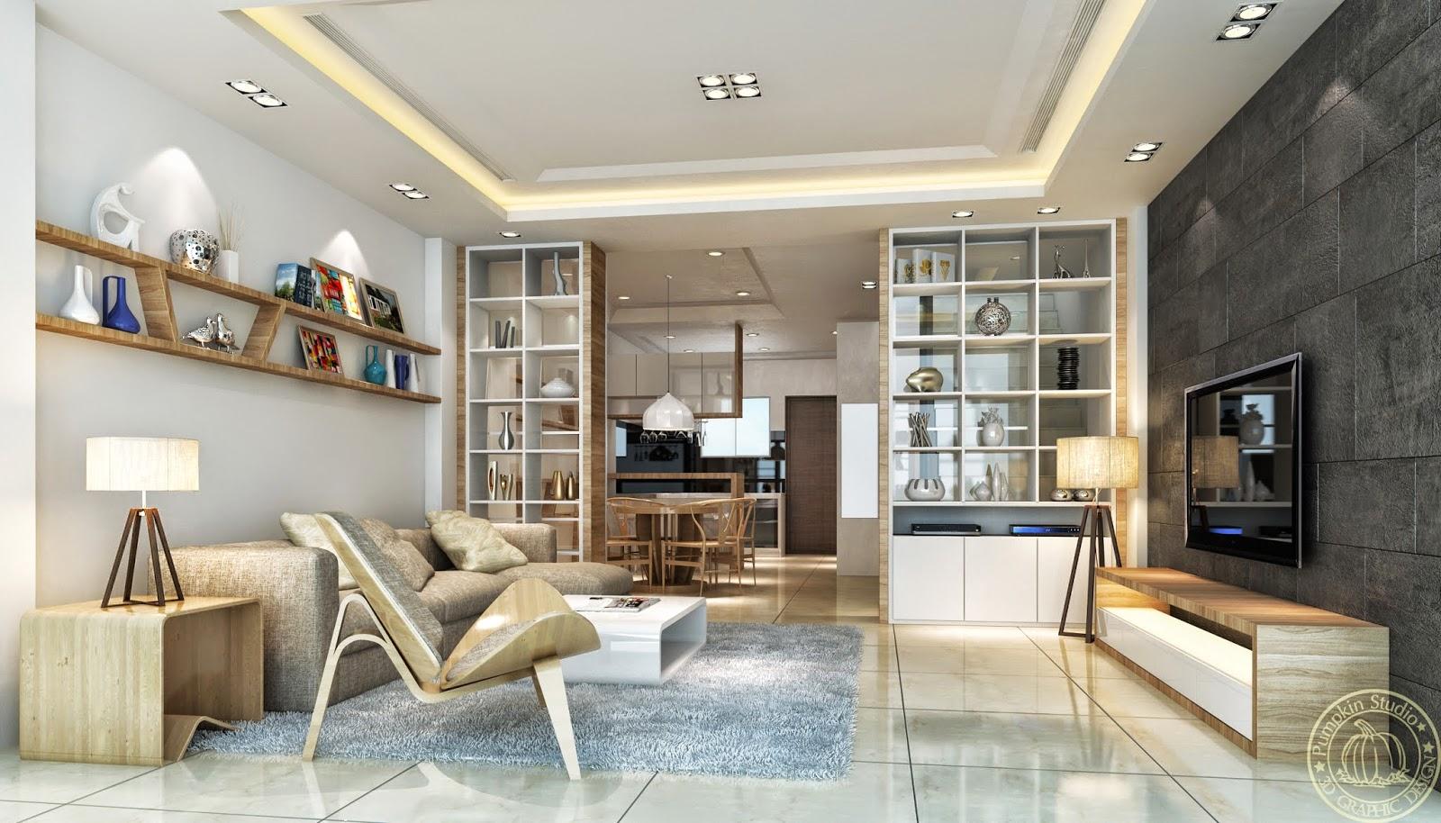3D作品 : 北歐風格客廳 ~ 南瓜設計工作室
