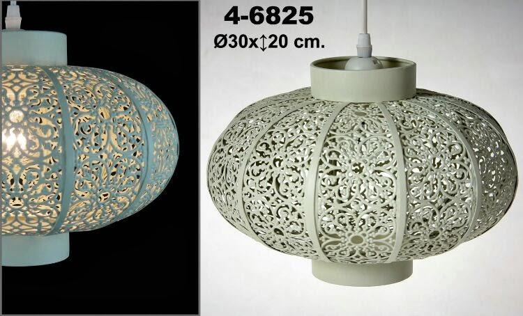 lampara de techo crema, lampara decoracion hindu