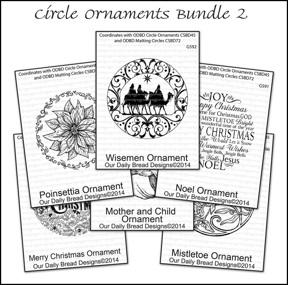 Our Daily Bread Designs Circle Ornaments Bundle 2