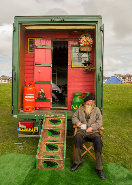 Photo of Chris and his unusual van at Maryport Blues Festival