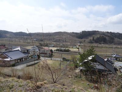 夏井諏訪大社から見た磐越東線夏井駅