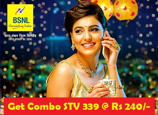 How to subscribe BSNL Unlimited Combo STV 339 @ just Rs 240/-
