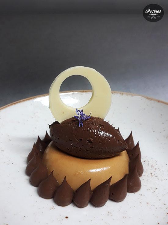 Savarín de Toffee y Café con Cremoso de Chocolate