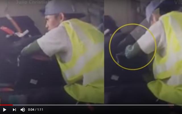 Kurang Ajar, Tertangkap Kamera Kelakuan Petugas Bandara Ini Bikin Geram, Tas Penumpang Dibongkar-bongkar Lalu....