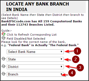Select details