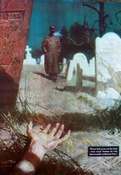 Gurney Journey Graveyard Scene By Tom Lovell