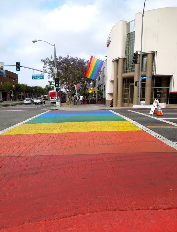 WEHO Pride rainbow brick road