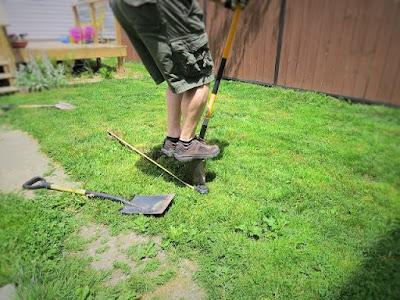 dry well digging yard dirt
