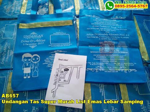 Harga Undangan Tas Super Murah List Emas Lebar Samping