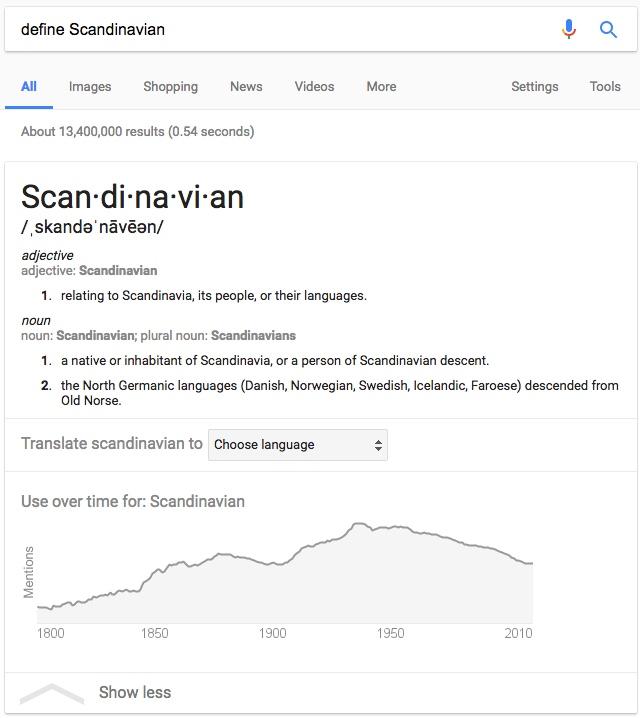 Answer scandinavia fia for Define scandinavian