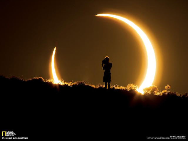 annular solar eclipse wallpaper