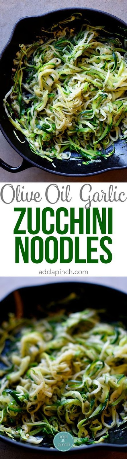 Olive Oil Garlic Zucchini Noodles Recipe