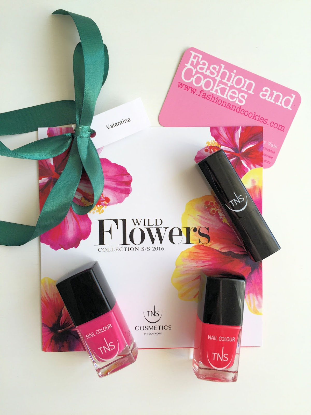 TNS Cosmetics Wild Flowers collection of nail polish and lipstick on Fashion and Cookies beauty blog, beauty blogger