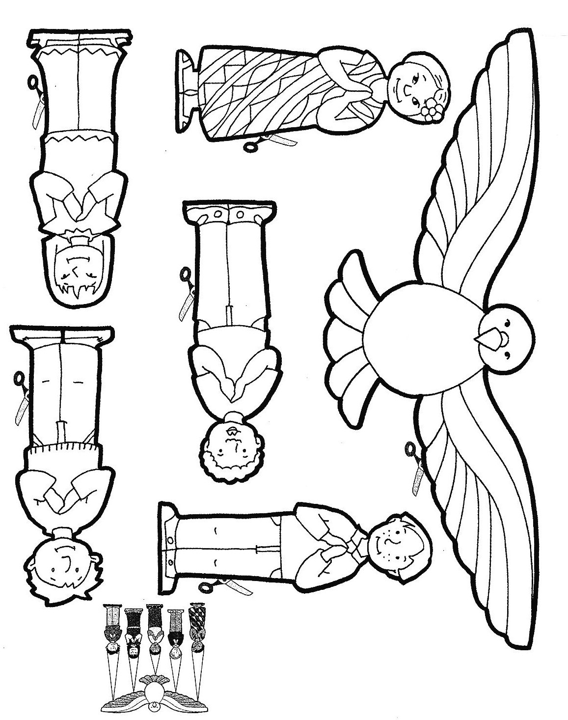 Free coloring pages of pentecost