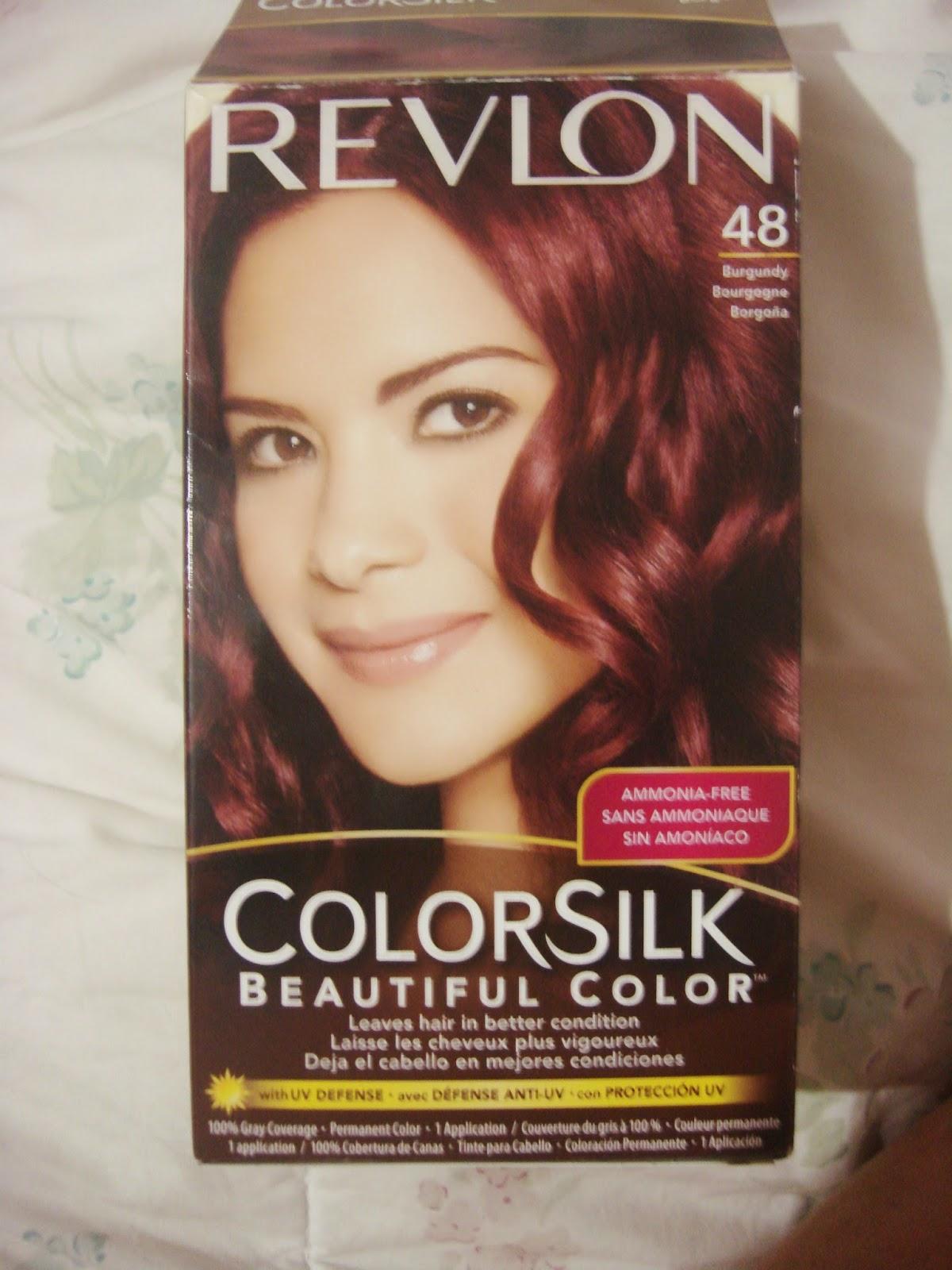 Box Of Revlon Colorsilk Hair Dye In 32 Dark Mahogany Brown Dark
