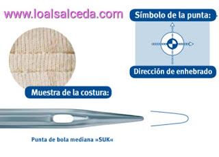 aguja maquina de coser SUK, aguja SUK, aguja maquina de coser