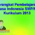 Perangkat Pembelajaran Bahasa Indonesia SMP/MTs Kurikulum 2013