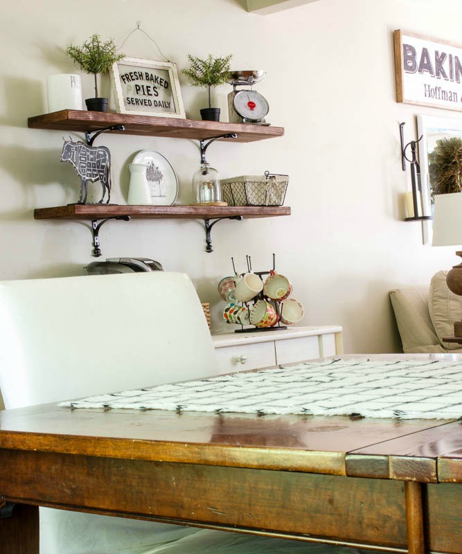 DIY dining shelves