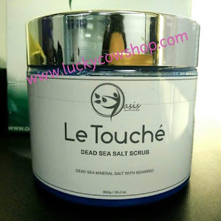 letouche dead sea salt body scrub