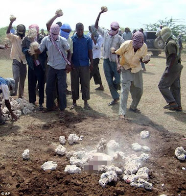 Al-shabaab Militants in Somalia stone man to death for cheating on his two wives