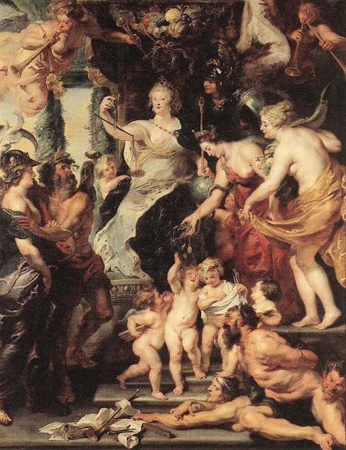 Pedro Pablo Rubens -  La felicidad de la Regencia de María de Médicis - 1625