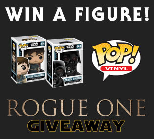 win Star Wars Rogue One pop vinyl figure giveaway