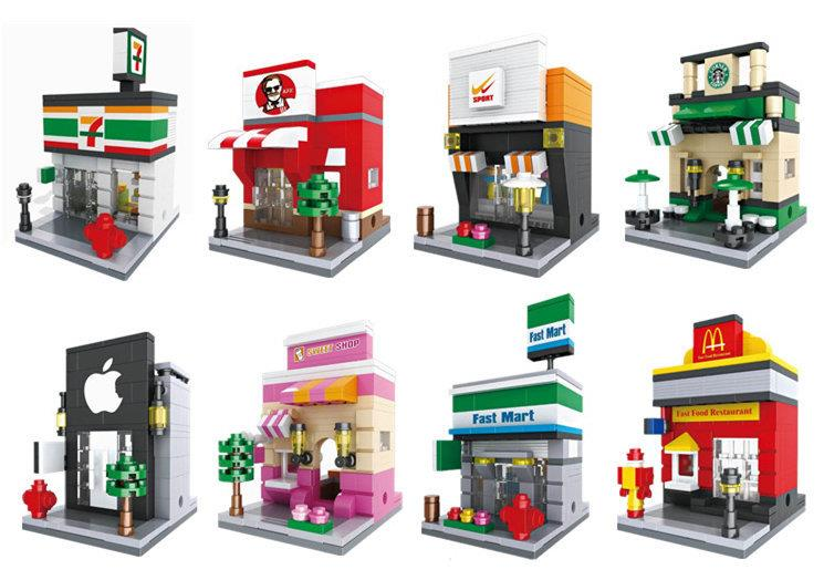 Brick Toys and all Sorts: Hsanhe Mini Street 6401 - 6408