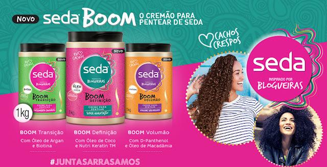 Nova linha Seda Boom para cabelos crespos e cacheados  manual dos cachos
