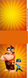 Etiqueta Tic Tac para imprimir gratis de Ralph el Demoledor.