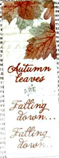 Bookmark:  Autumn Leaves, the back