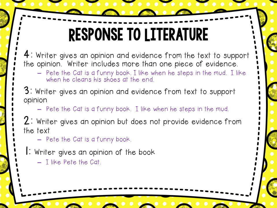 Response to literature model essay