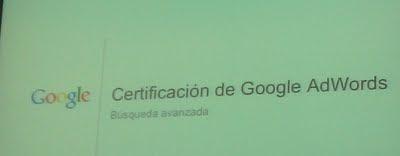curso de preparación para conseguir el certificado de Google Adwords