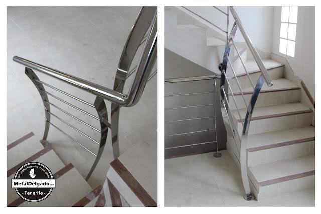 Acero inoxidable tenerife barandas acero inoxidable para - Barandillas para escaleras interiores modernas ...