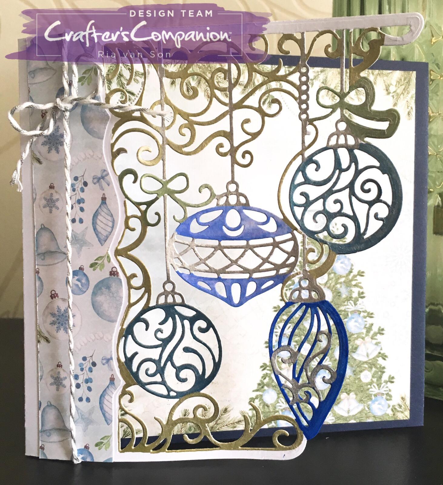 Yuletide Adornments Gemini Create a Card Craft Metal Papercraft Christmas Die