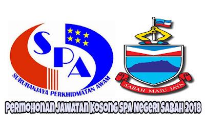 Permohonan Jawatan Kosong SPA Negeri Sabah 2018