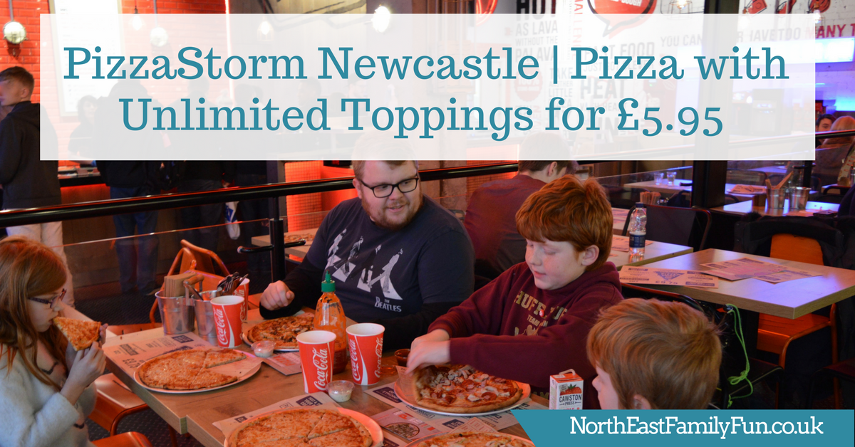 PizzaStorm Newcastle | Pizza with Unlimited Toppings for £5.95