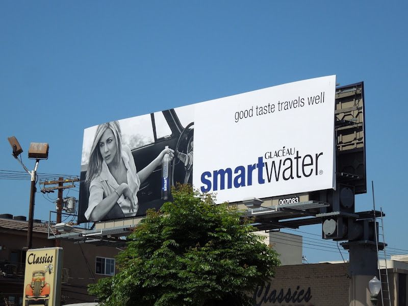 Smart Water travels well billboard