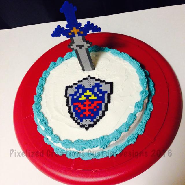 Zelda Cake Decor : The Girl Gamer: 8-Bit Art: Legend of Zelda Master Sword ...