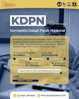 Kompetisi Debat Pajak Nasional KDPN 2019 Mahasiswa