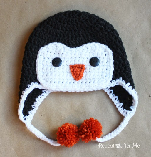 Haakpatroon Muts Pinguin