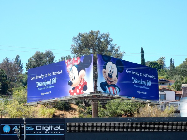 Disneyland 60 Diamond Celebration billboards