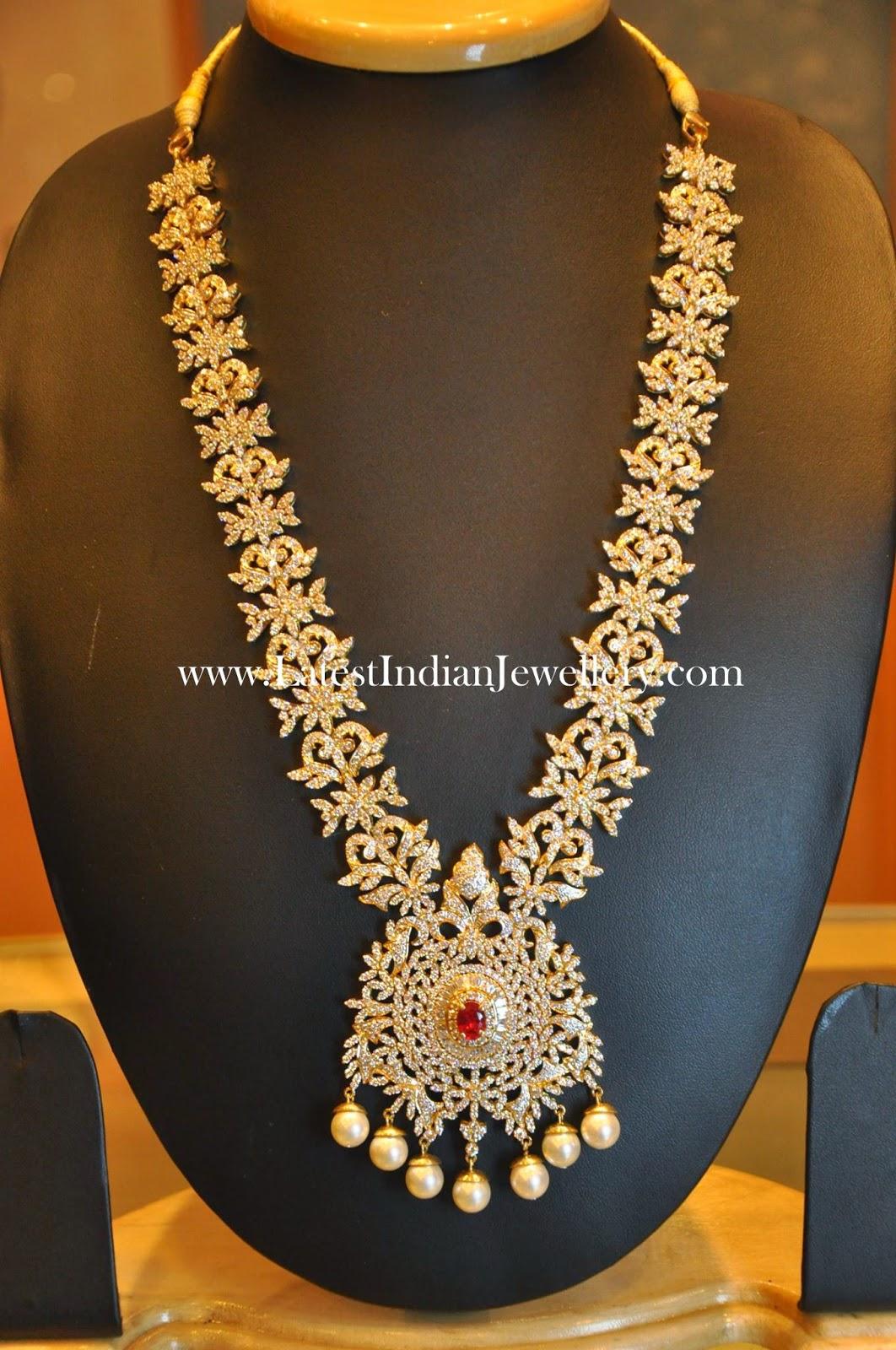 Excellent Bridal Diamond Haram Design Latest Indian